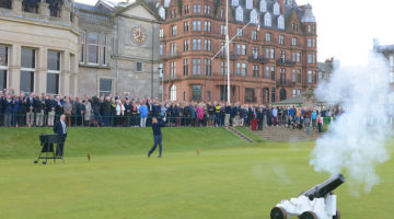 New Captain of the Royal and Ancient Golf Club of St Andrews Drive In